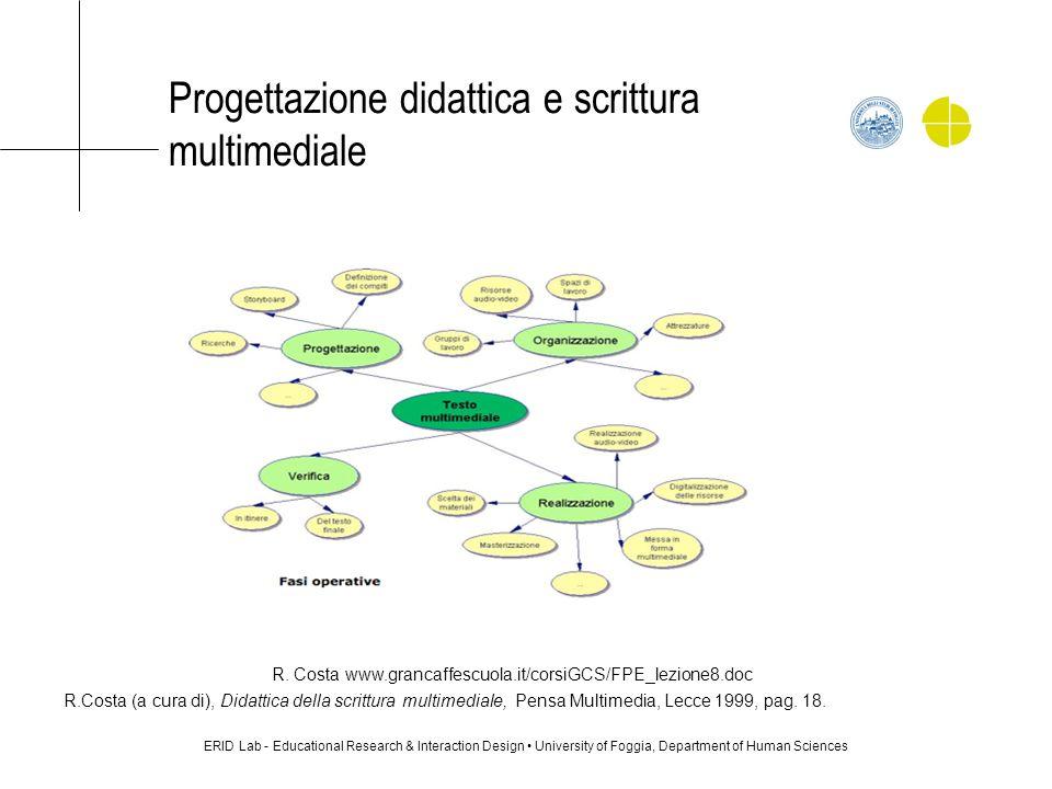 Progettazione didattica e scrittura multimediale ERID Lab - Educational Research & Interaction Design University of Foggia, Department of Human Scienc