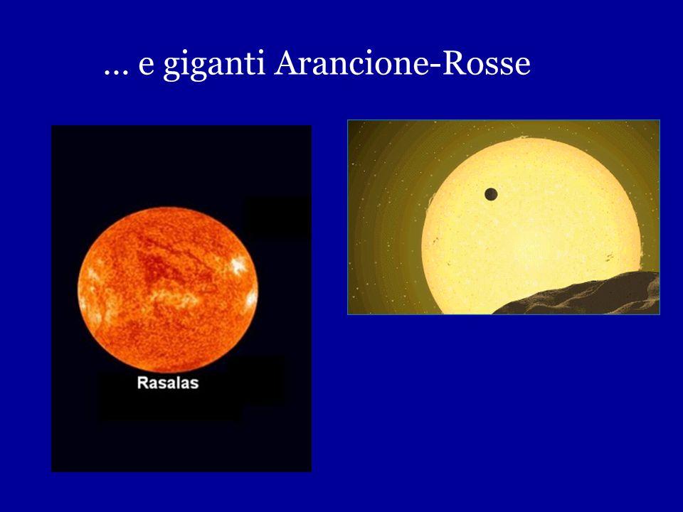 Fuori la Sequenza Principale Nane Bianche … Sirio B, indicata dalla freccia Una nana bianca della dimensione della Terra ma con una massa pari a quell