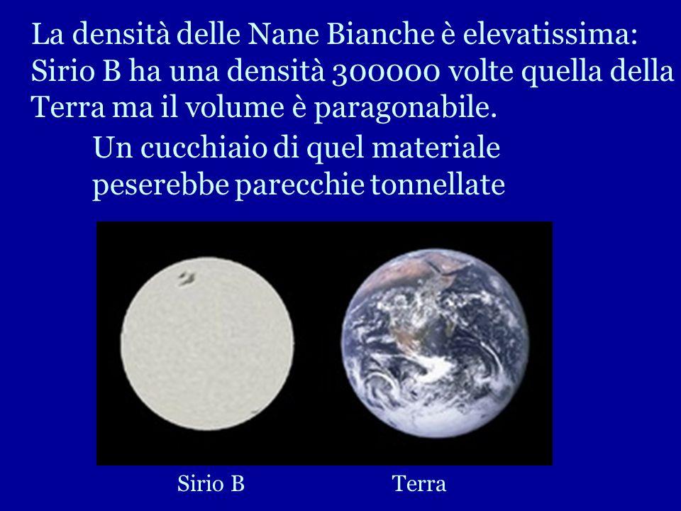 Qui vediamo una nana bianca: Sirio B accanto a Sirio A stella di sequenza principale, la stella più luminosa del cielo. La massa di Sirio B è pari a q