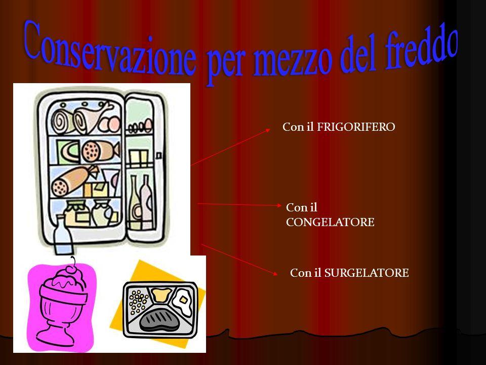 Con il FRIGORIFERO Con il CONGELATORE Con il SURGELATORE