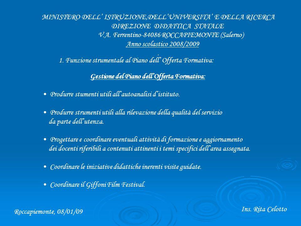 MINISTERO DELL ISTRUZIONE,DELLUNIVERSITA E DELLA RICERCA DIREZIONE DIDATTICA STATALE V.A.