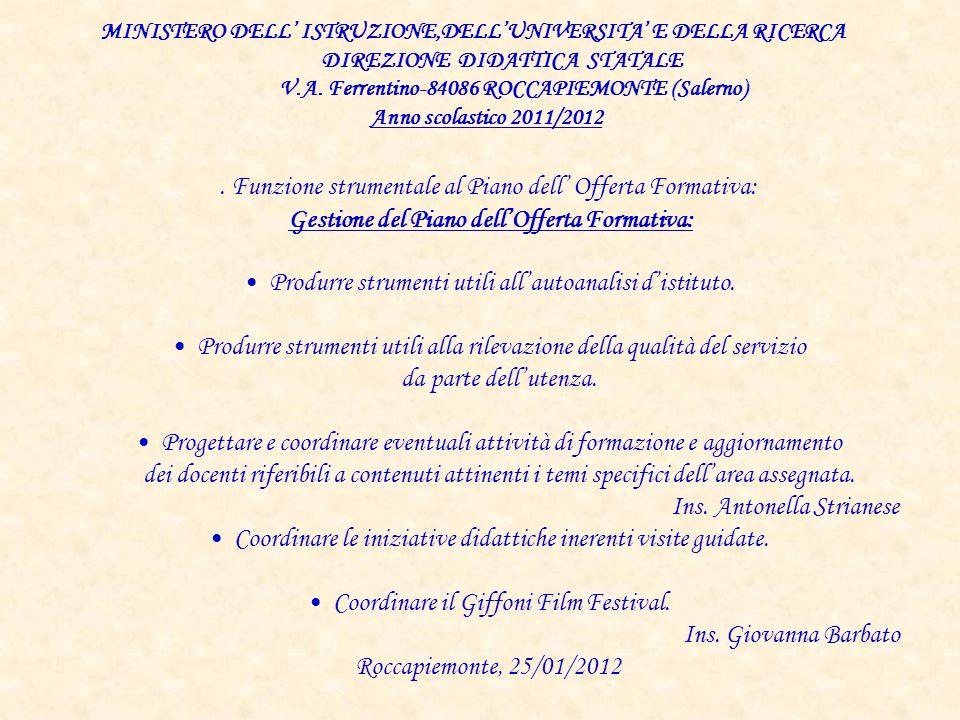 Questionario genitori Scuola Primaria Anno scolastico 2011/12