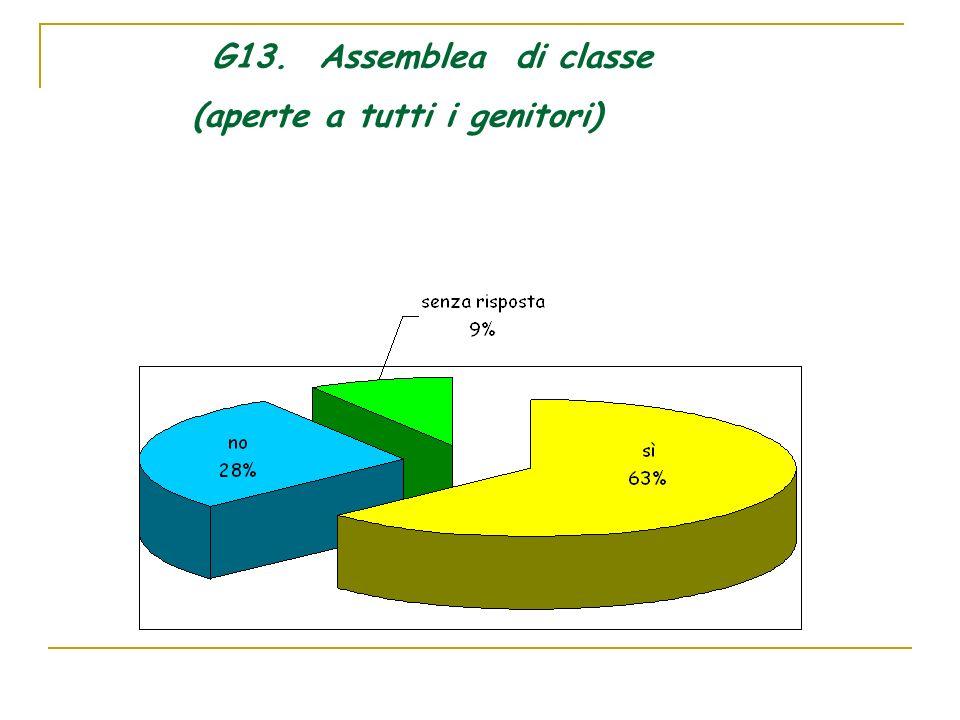 G13. Assemblea di classe (aperte a tutti i genitori)