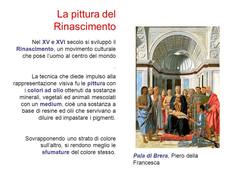 La pittura del Rinascimento Nel XV e XVI secolo si sviluppò il Rinascimento, un movimento culturale che pose luomo al centro del mondo.