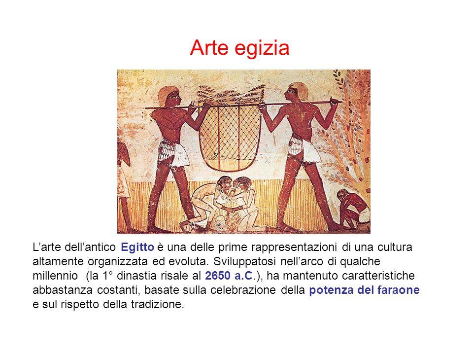 Arte egizia Larte dellantico Egitto è una delle prime rappresentazioni di una cultura altamente organizzata ed evoluta.