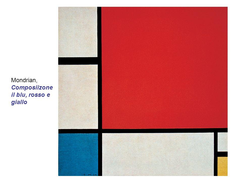 Mondrian, Composiizone il blu, rosso e giallo