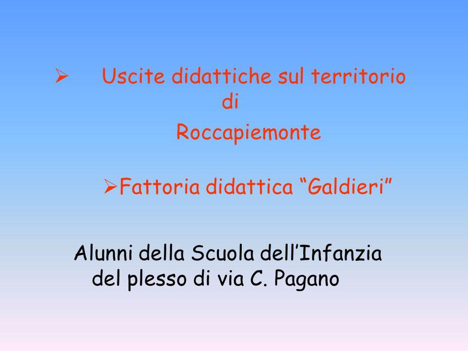 Alunni della Scuola dellInfanzia del plesso di via C. Pagano Uscite didattiche sul territorio di Roccapiemonte Fattoria didattica Galdieri