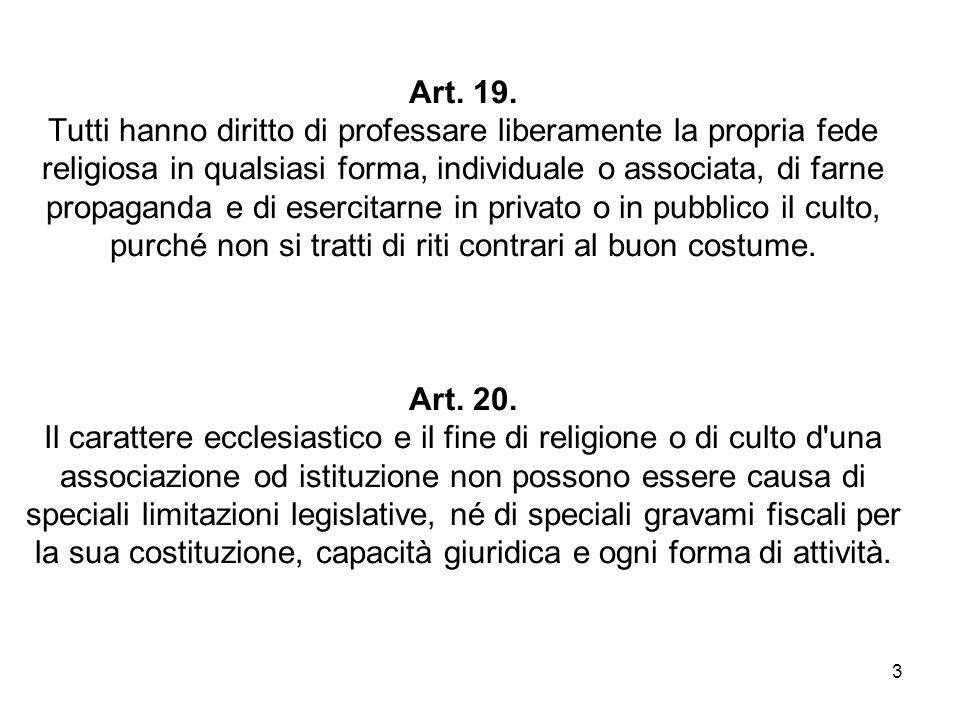 4 Costituzione Europea, Articolo II-70 religioneOgni persona ha diritto alla libertà di pensiero, di coscienza e di religione.