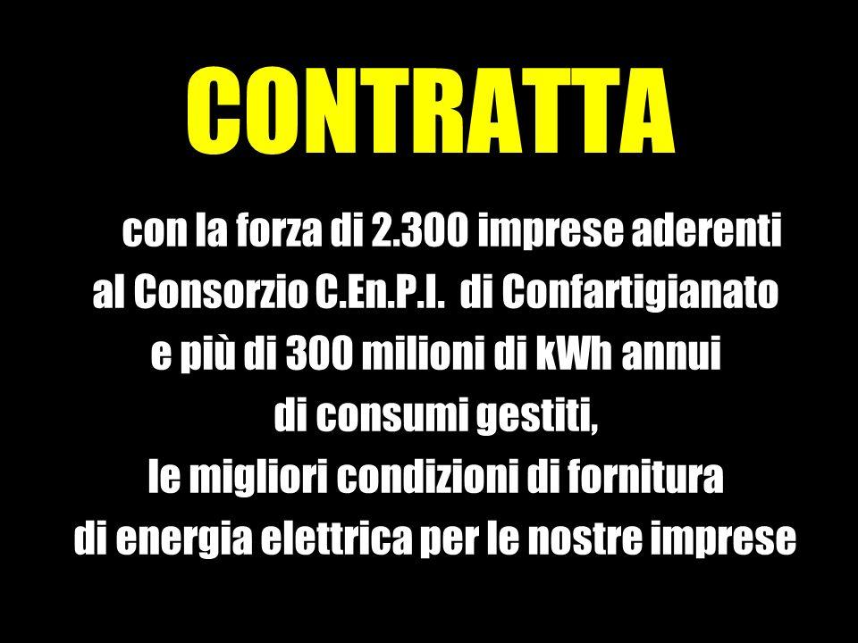 CONTRATTA con la forza di 2.300 imprese aderenti al Consorzio C.En.P.I.