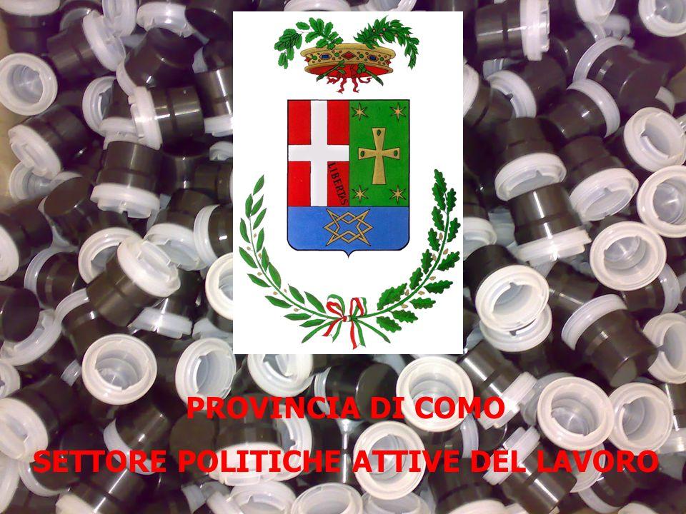 PROVINCIA DI COMO SETTORE POLITICHE ATTIVE DEL LAVORO