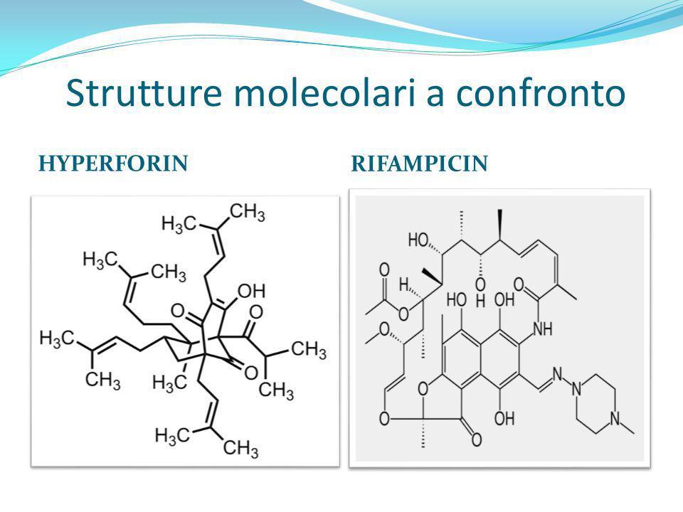 Strutture molecolari a confronto HYPERFORIN RIFAMPICIN