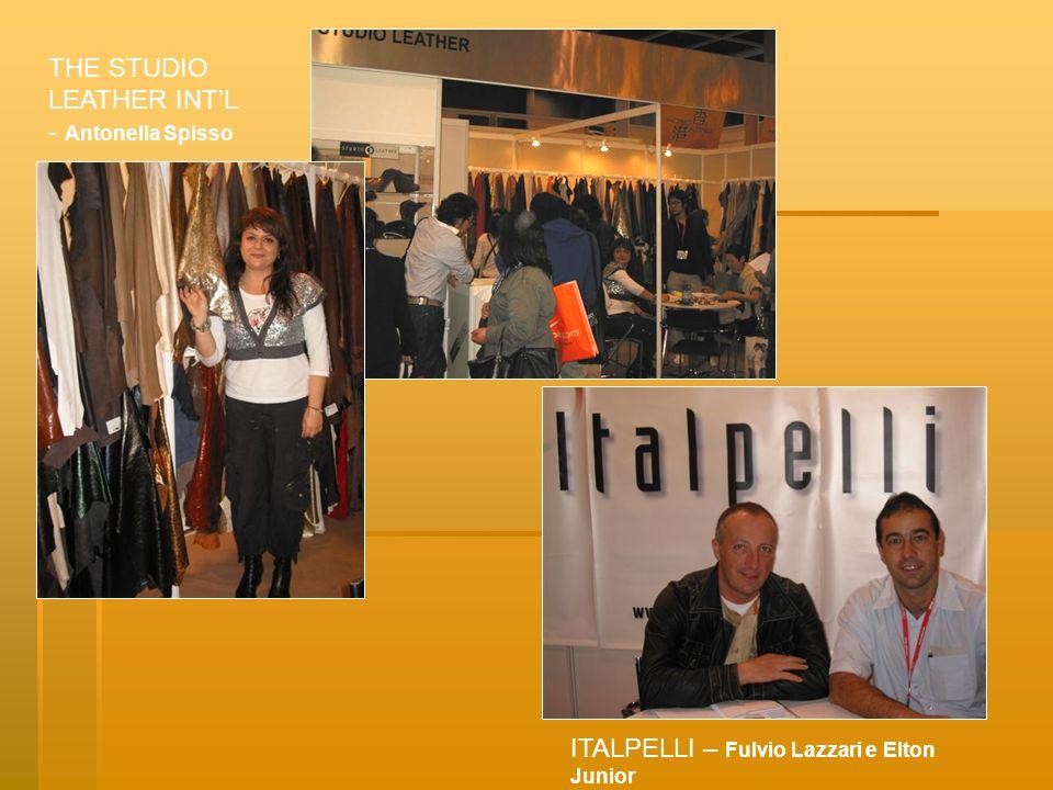 THE STUDIO LEATHER INTL - Antonella Spisso ITALPELLI – Fulvio Lazzari e Elton Junior