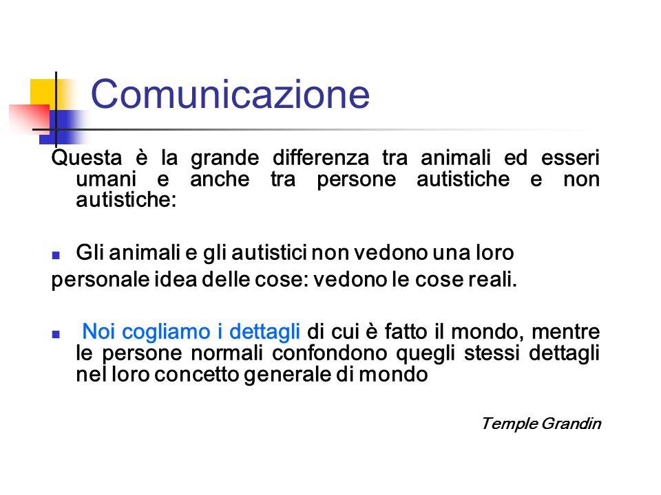 Comunicazione Questa è la grande differenza tra animali ed esseri umani e anche tra persone autistiche e non autistiche: Gli animali e gli autistici n