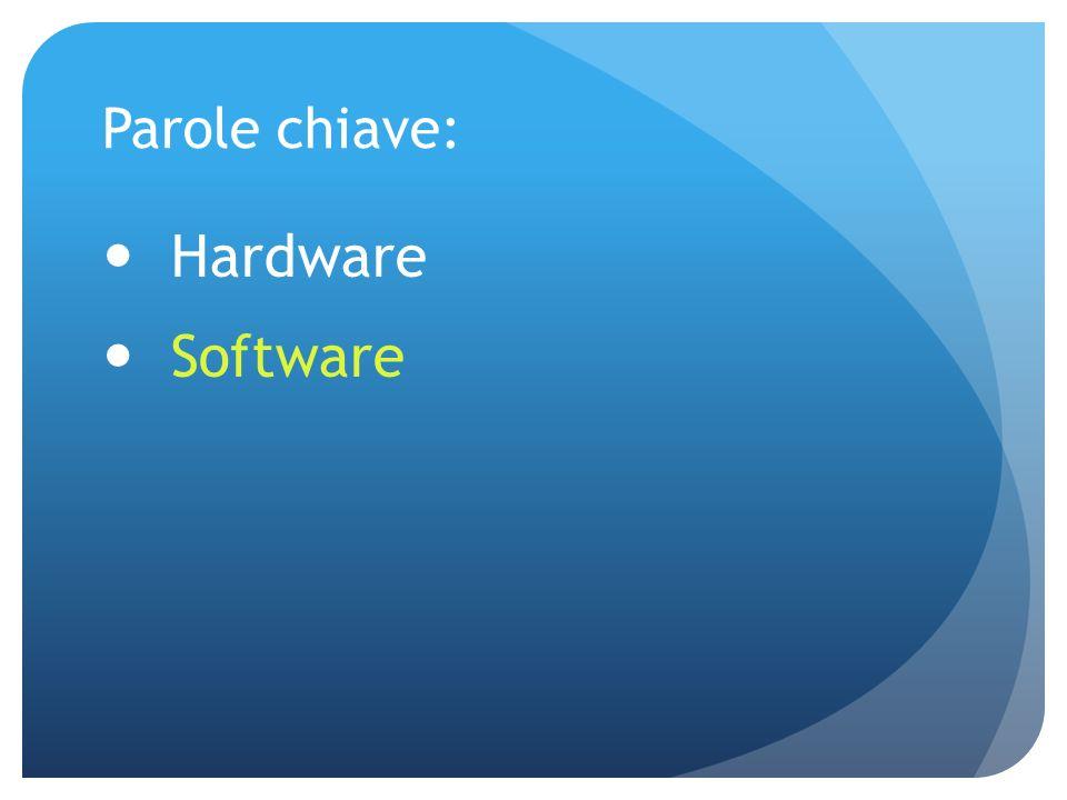 Parole chiave: Hardware Software