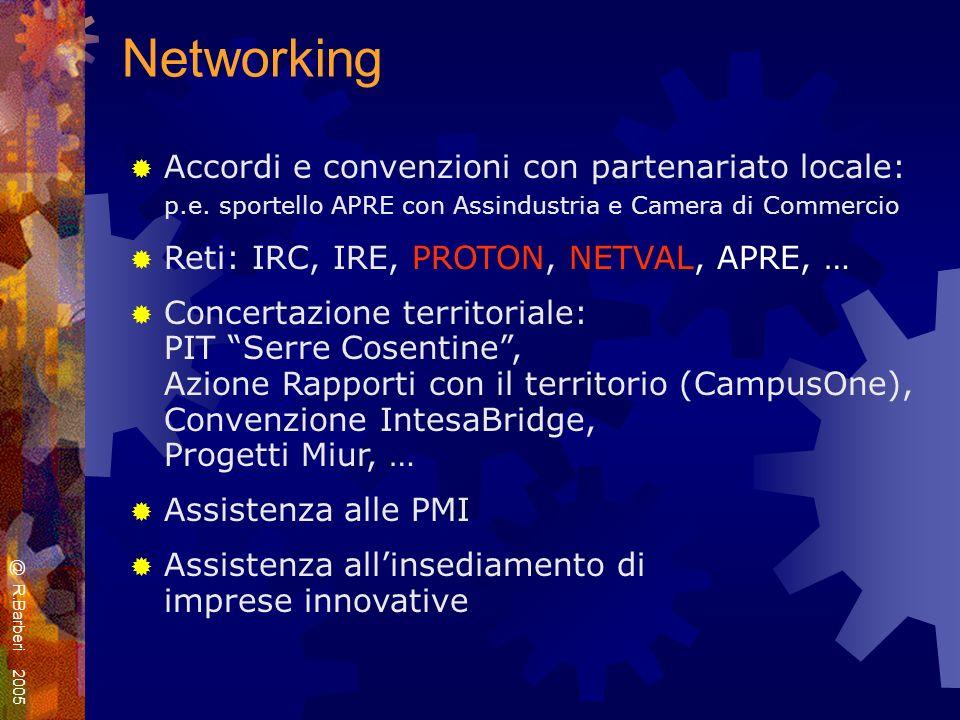 Networking Accordi e convenzioni con partenariato locale: p.e.