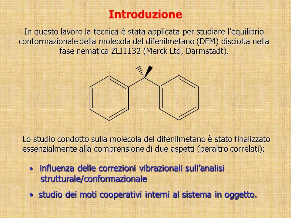 Introduzione influenza delle correzioni vibrazionali sullanalisi influenza delle correzioni vibrazionali sullanalisi strutturale/conformazionale strutturale/conformazionale studio dei moti cooperativi interni al sistema in oggetto.