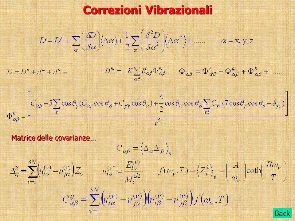 Correzioni Vibrazionali Back Matrice delle covarianze…