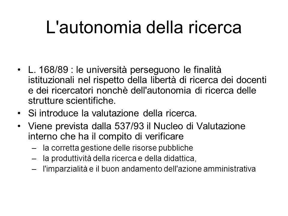L autonomia della ricerca L.