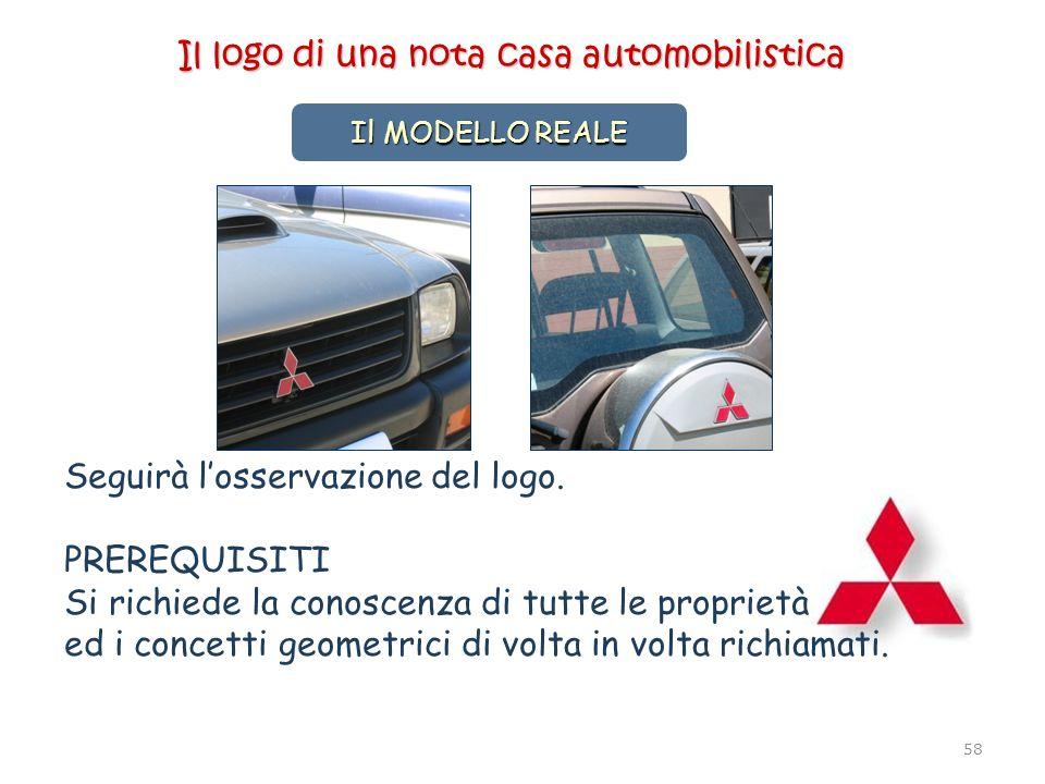 58 Il MODELLO REALE © Annarosa Serpe - Gela 2006 Seguirà losservazione del logo. PREREQUISITI Si richiede la conoscenza di tutte le proprietà ed i con