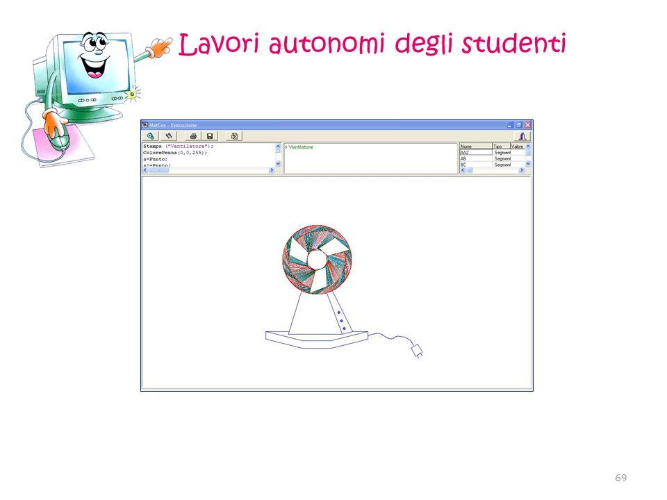 Lavori autonomi degli studenti 69