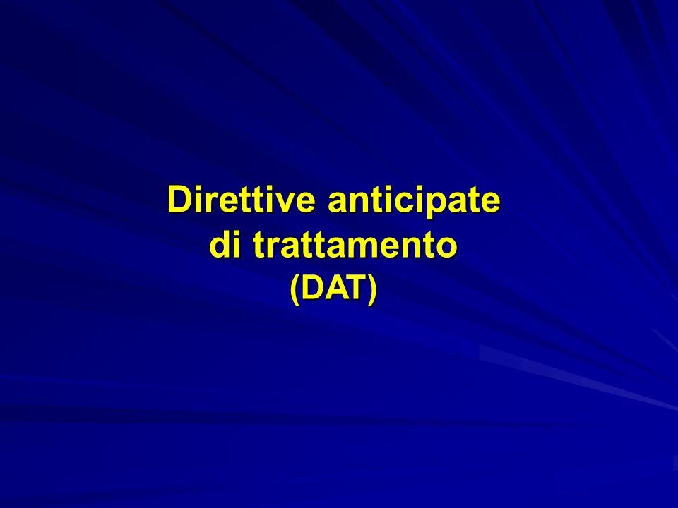 Direttive anticipate di trattamento (DAT)