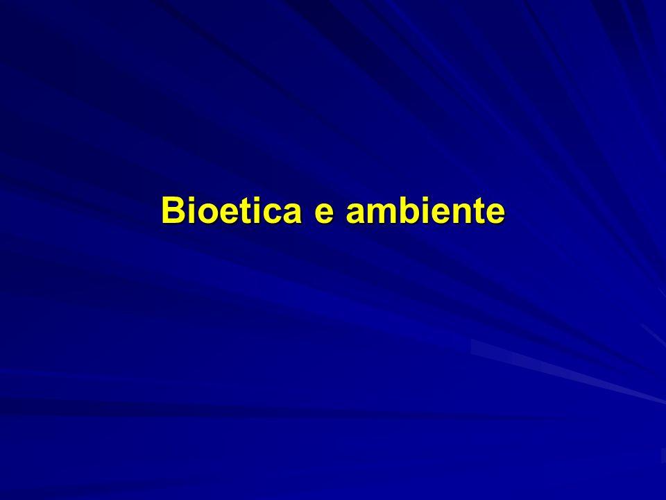 Bioetica e ambiente