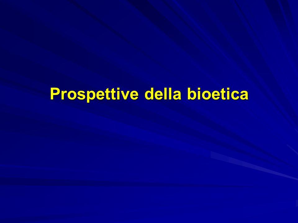 Prospettive della bioetica