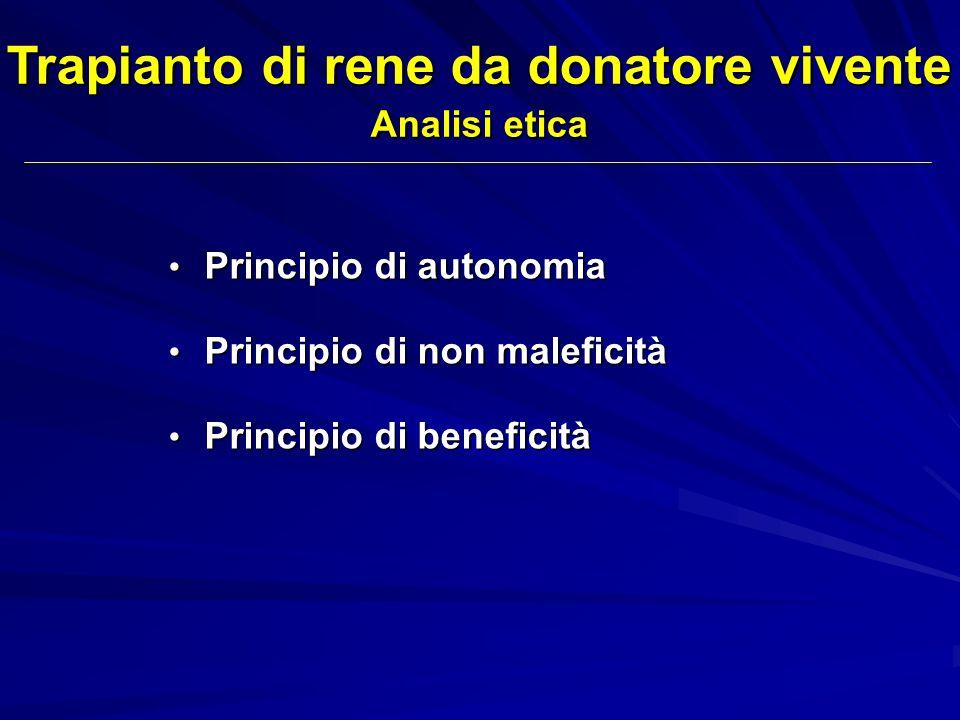 Principio di autonomia Principio di autonomia Principio di non maleficità Principio di non maleficità Principio di beneficità Principio di beneficità