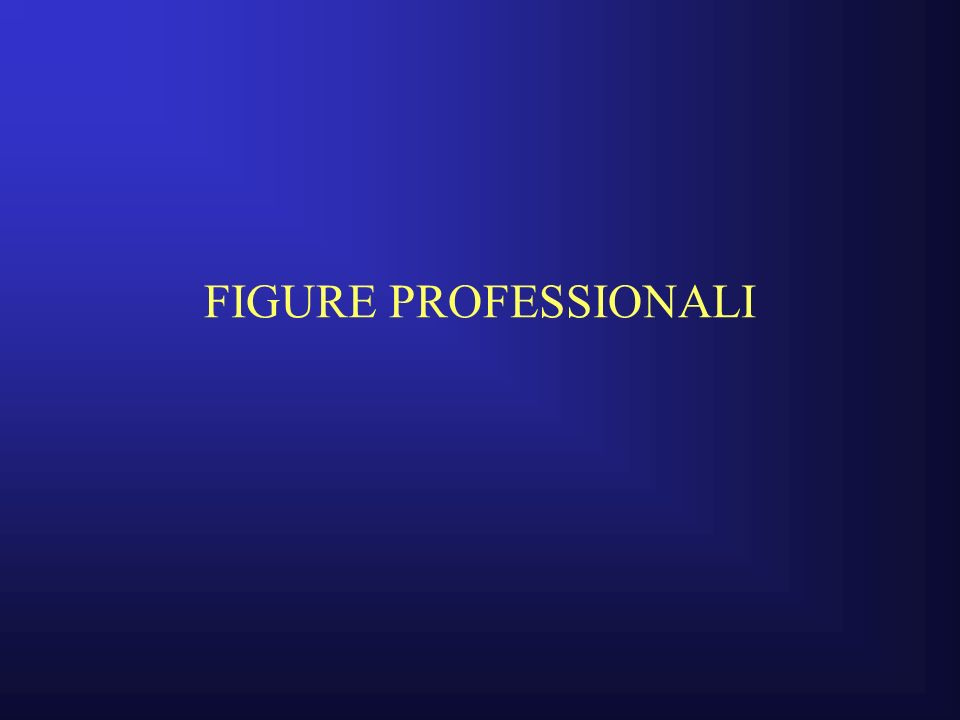 FIGURE PROFESSIONALI