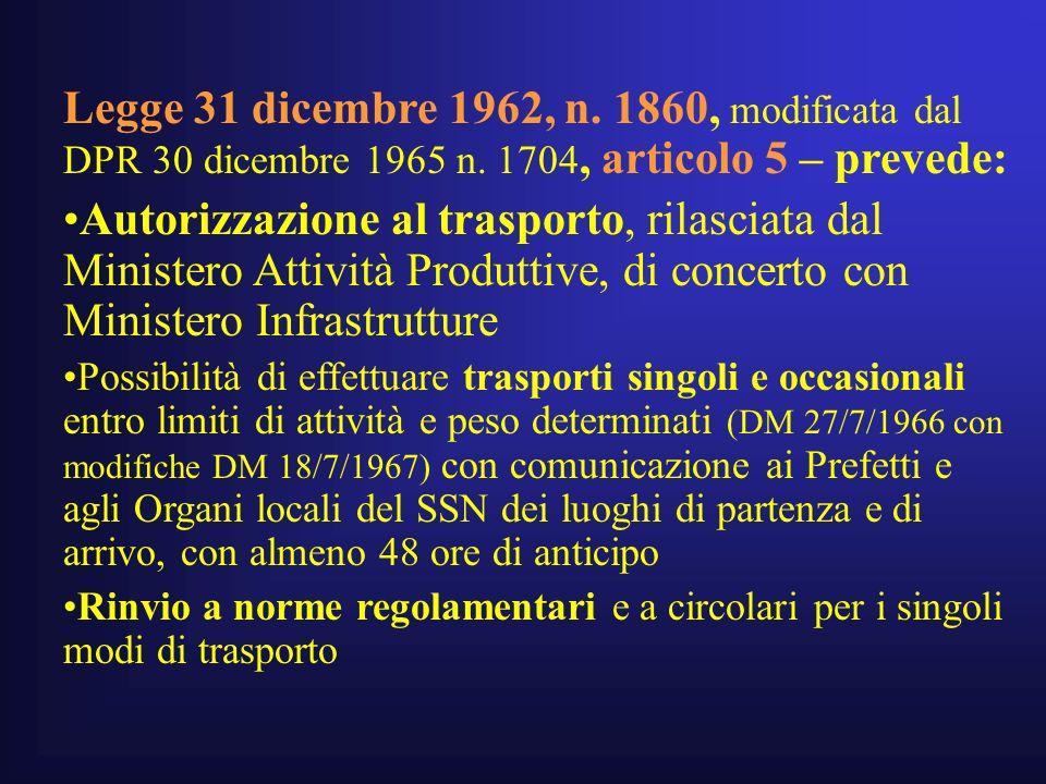 Legge 31 dicembre 1962, n.1860, modificata dal DPR 30 dicembre 1965 n.