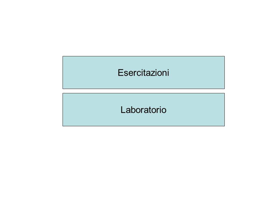 Esercitazioni Laboratorio