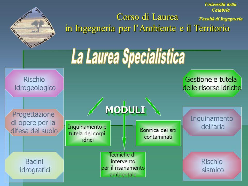 28 Università della Calabria Facoltà di Ingegneria Corso di Laurea in Ingegneria per lAmbiente e il Territorio Bacini idrografici Rischio sismico Inqu