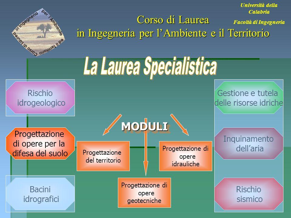 29 Università della Calabria Facoltà di Ingegneria Corso di Laurea in Ingegneria per lAmbiente e il Territorio Bacini idrografici Rischio sismico Inqu