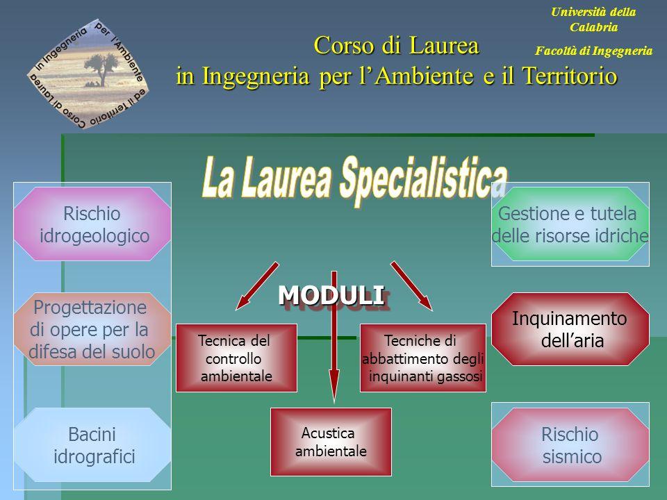 30 Università della Calabria Facoltà di Ingegneria Corso di Laurea in Ingegneria per lAmbiente e il Territorio Bacini idrografici Rischio sismico Inqu