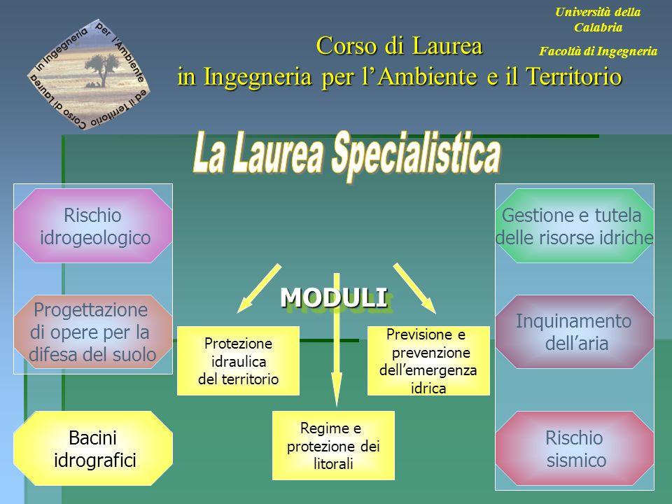 31 Università della Calabria Facoltà di Ingegneria Corso di Laurea in Ingegneria per lAmbiente e il Territorio Bacini idrografici Rischio sismico Inqu