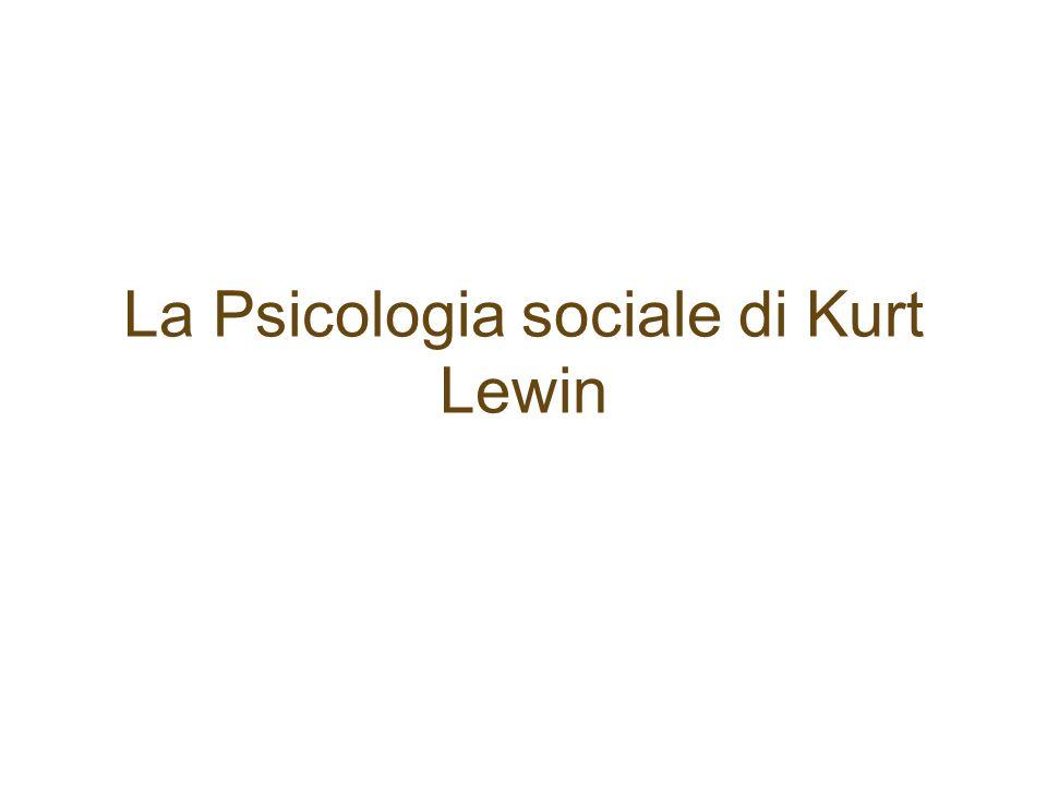 La Psicologia sociale di Kurt Lewin