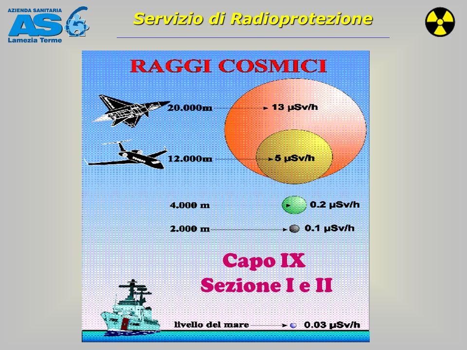 Servizio di Radioprotezione Sezione I Protezione generale popolazione