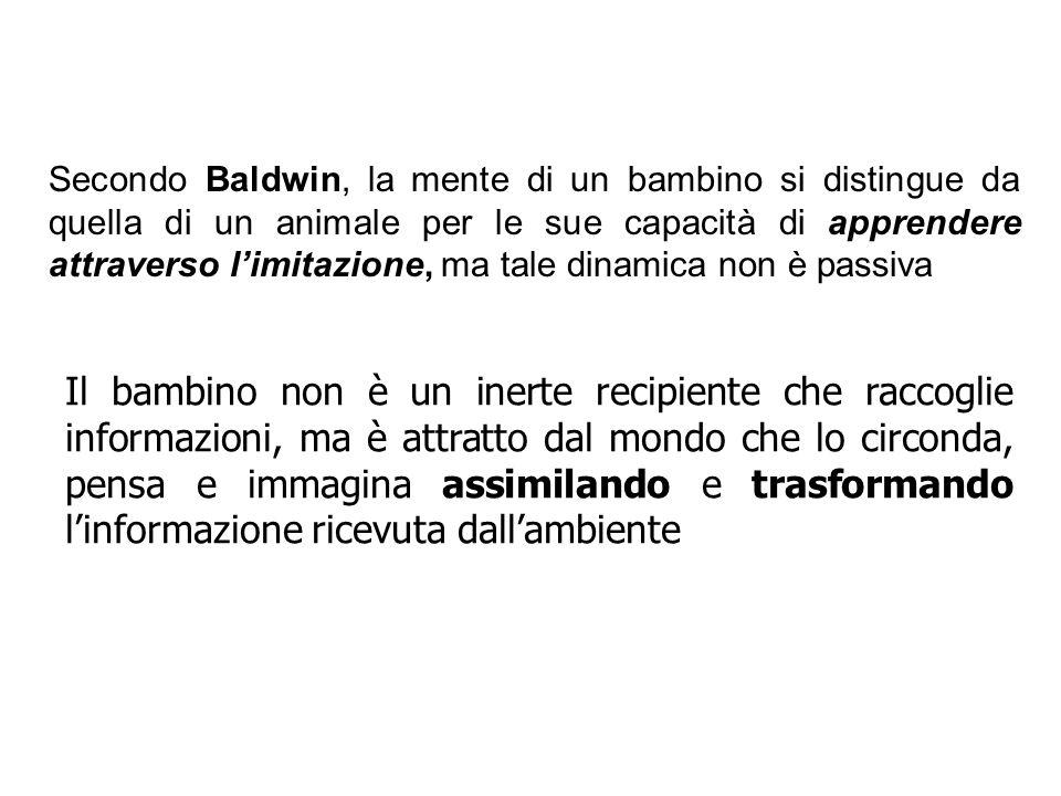 Secondo Baldwin, la mente di un bambino si distingue da quella di un animale per le sue capacità di apprendere attraverso limitazione, ma tale dinamic