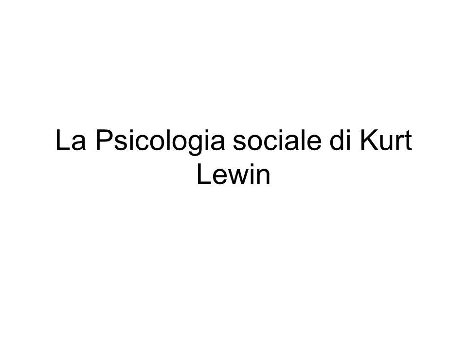 La ricerca sugli stili di leadership e atmosfera sociale (1939) Finalità: analisi del problema del cambiamento individuale e di gruppo.