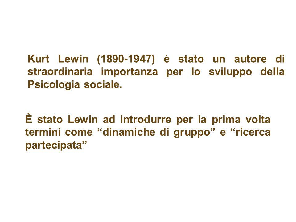 Kurt Lewin (1890-1947) è stato un autore di straordinaria importanza per lo sviluppo della Psicologia sociale. È stato Lewin ad introdurre per la prim