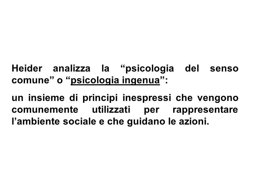 La psicologia ingenua guida il nostro comportamento verso le altre persone.
