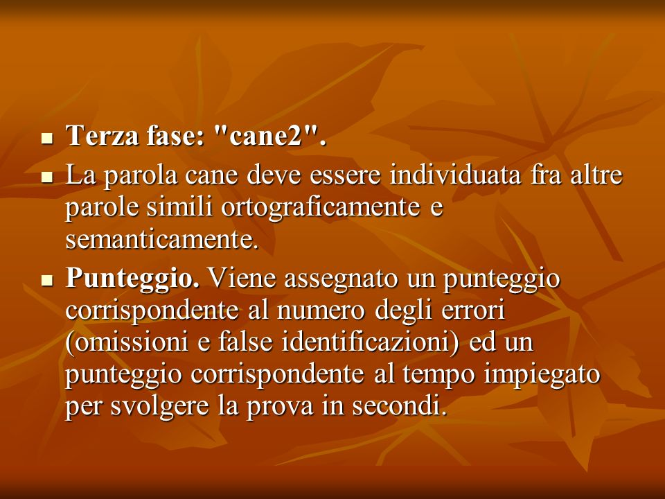Terza fase: