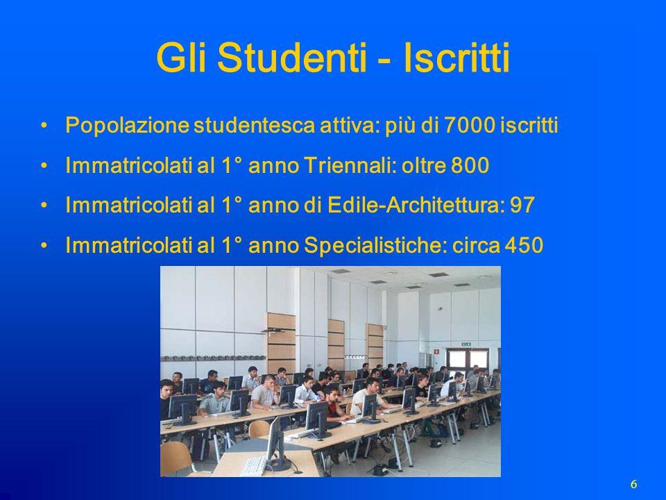 7 Gli Studenti - Laureati Più di 3400 al 30 marzo 2009 Laureati Triennali dal 2003: 2692 Laureati Specialistiche dal 2005: 715 Laureati Edile-Architettura dal 2008: 3