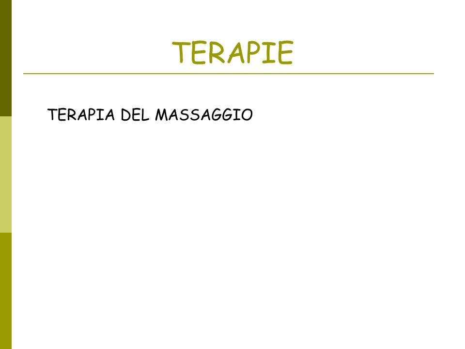 TERAPIE TERAPIA DEL MASSAGGIO