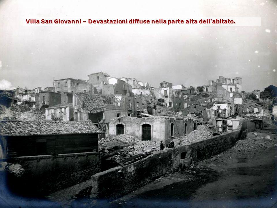 Villa San Giovanni – Devastazioni diffuse nella parte alta dellabitato.