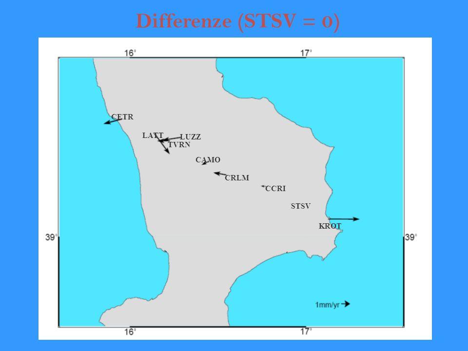 Differenze (STSV = 0) CETR LATT LUZZ TVRN CAMO CRLM CCRI STSV KROT