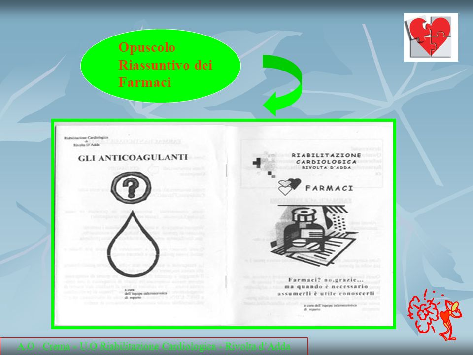Opuscolo Riassuntivo dei Farmaci A.O. Crema - U.O Riabilitazione Cardiologica - Rivolta dAdda