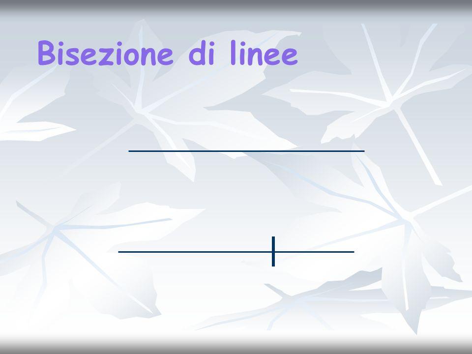 Bisezione di linee