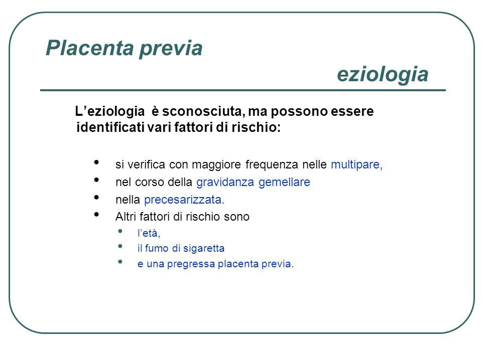Distacco di placenta incidenza Il distacco di placenta si presenta con una frequenza dello 0,45-1,3% di tutte le gravidanze.