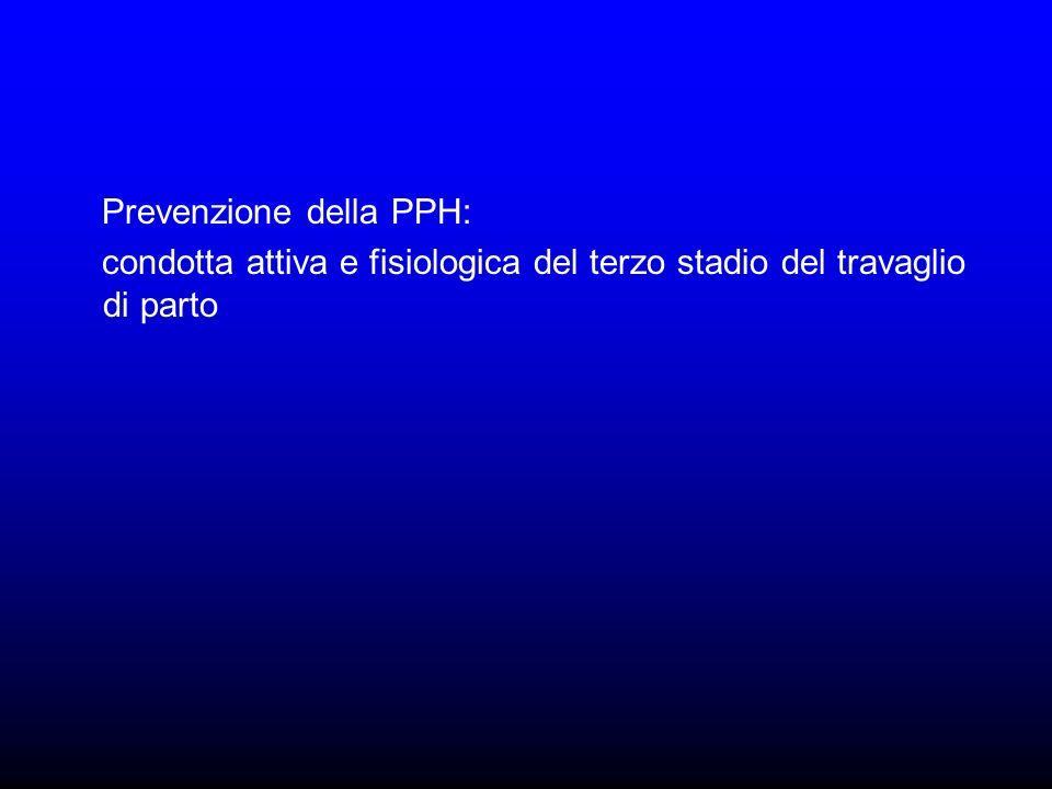 Prevenzione della PPH: condotta attiva e fisiologica del terzo stadio del travaglio di parto